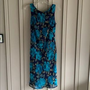Teal Floral Connected Apparel Dress size 8